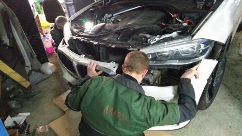 Шумоизоляция передних колесных арок BMW X6