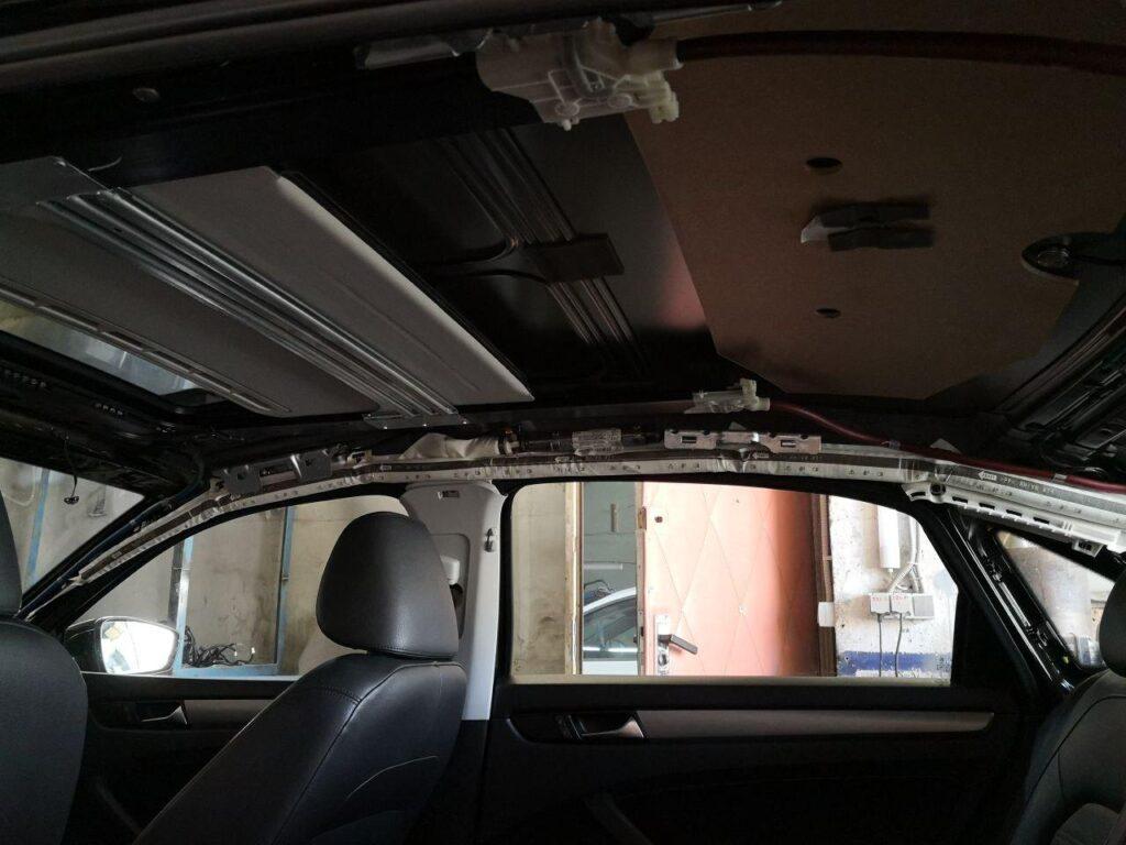 ремонт потолока автомобиля